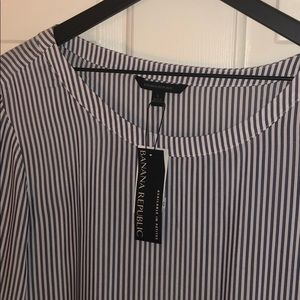 Banana Republic striped tunic blouse